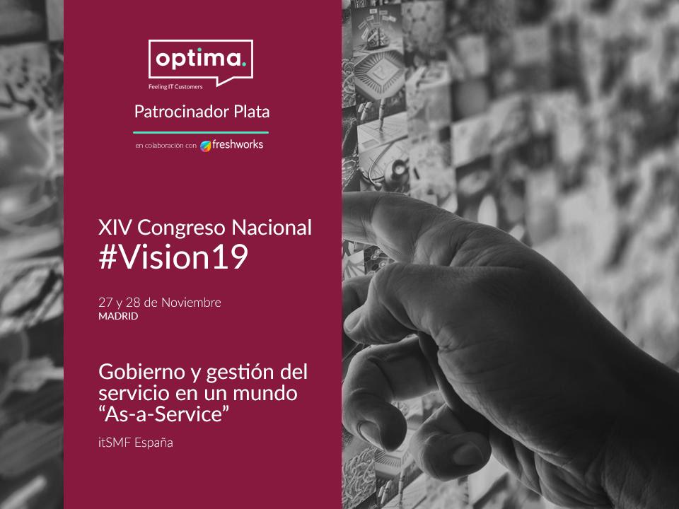 Optima Solutions en VISION 19 de Itsmf España  ¡No te lo pierdas!