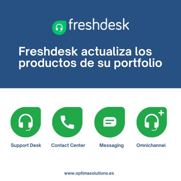 Descubre los nuevos nombres de la suite de Freshdesk